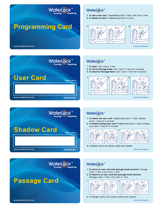 Programming and shadow card