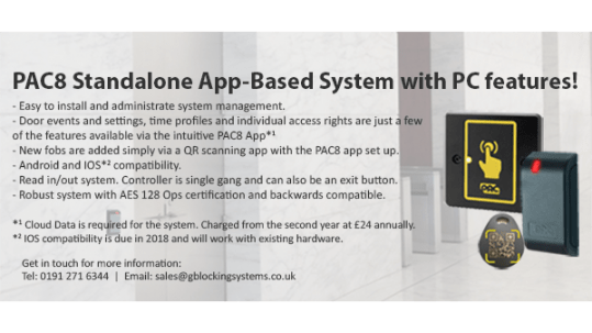 PAC8 Standalone Door Entry System