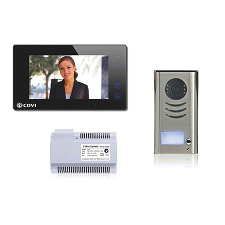 CDV4791-B | CDVI 1 Way Door Entry Kit, Black, 2 Wire (4791-B) |Video Entry