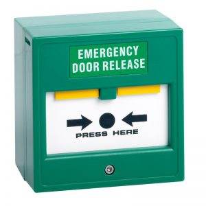 CP22 Green Break Glass Emergency Door Release Button | Door Automation