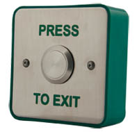 Stainless Steel Exit Button | Press to Exit Button | Door Automation RTE4