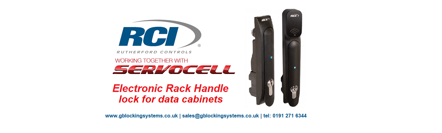 RCI Electronic Rack Handle Lock for Data Cabinets